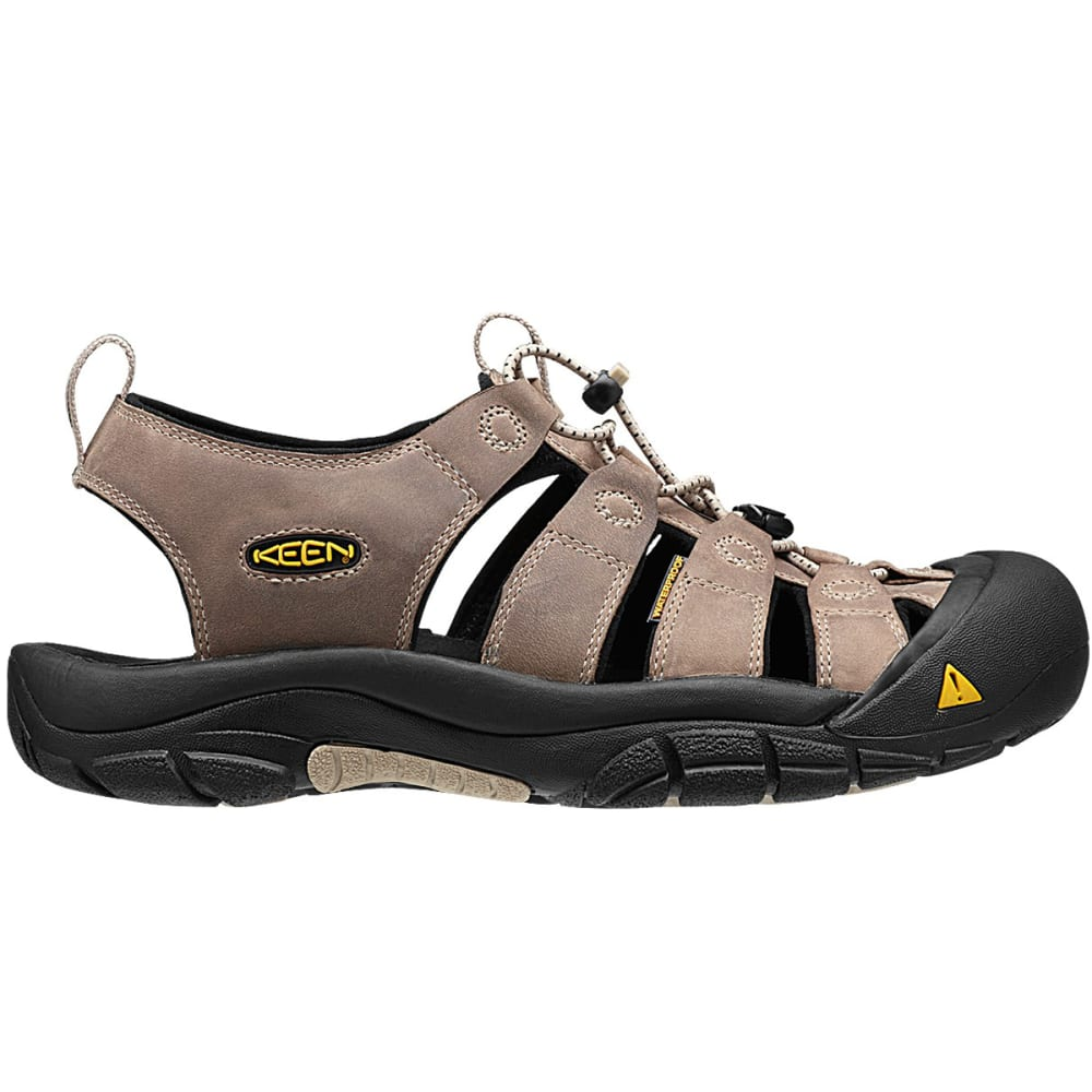 KEEN Men's Newport H2 Sandals - WHITE PEPPER/BLACK