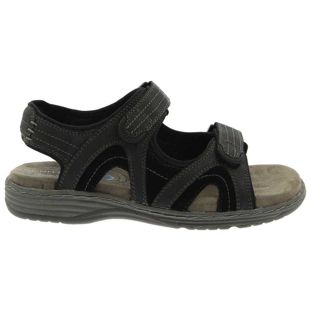 NUNN BUSH Men's Randall Open-Toe Sandals, Wide Width - BLACK