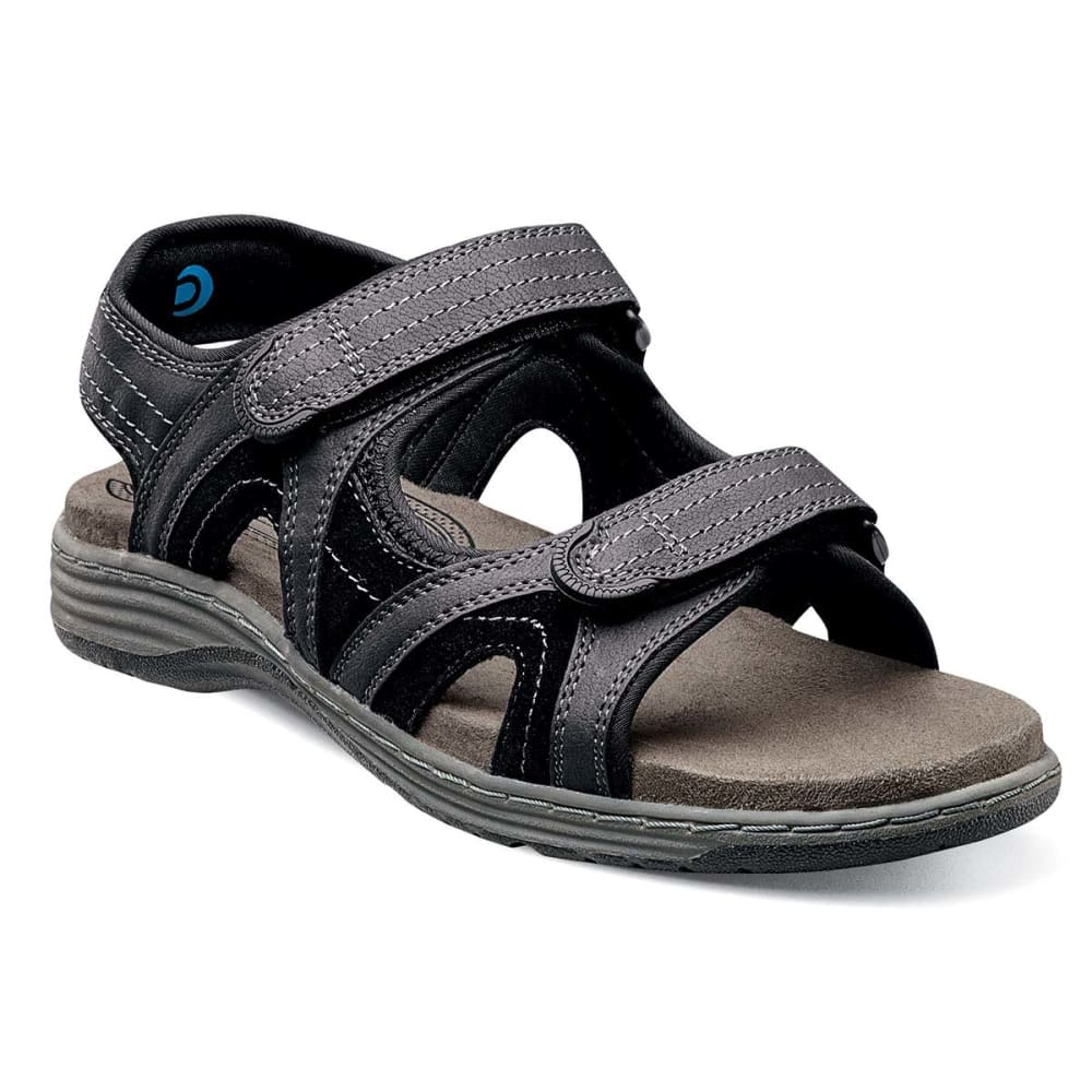 NUNN BUSH Men's Randall Open-Toe Sandals, Wide Width - BLACK