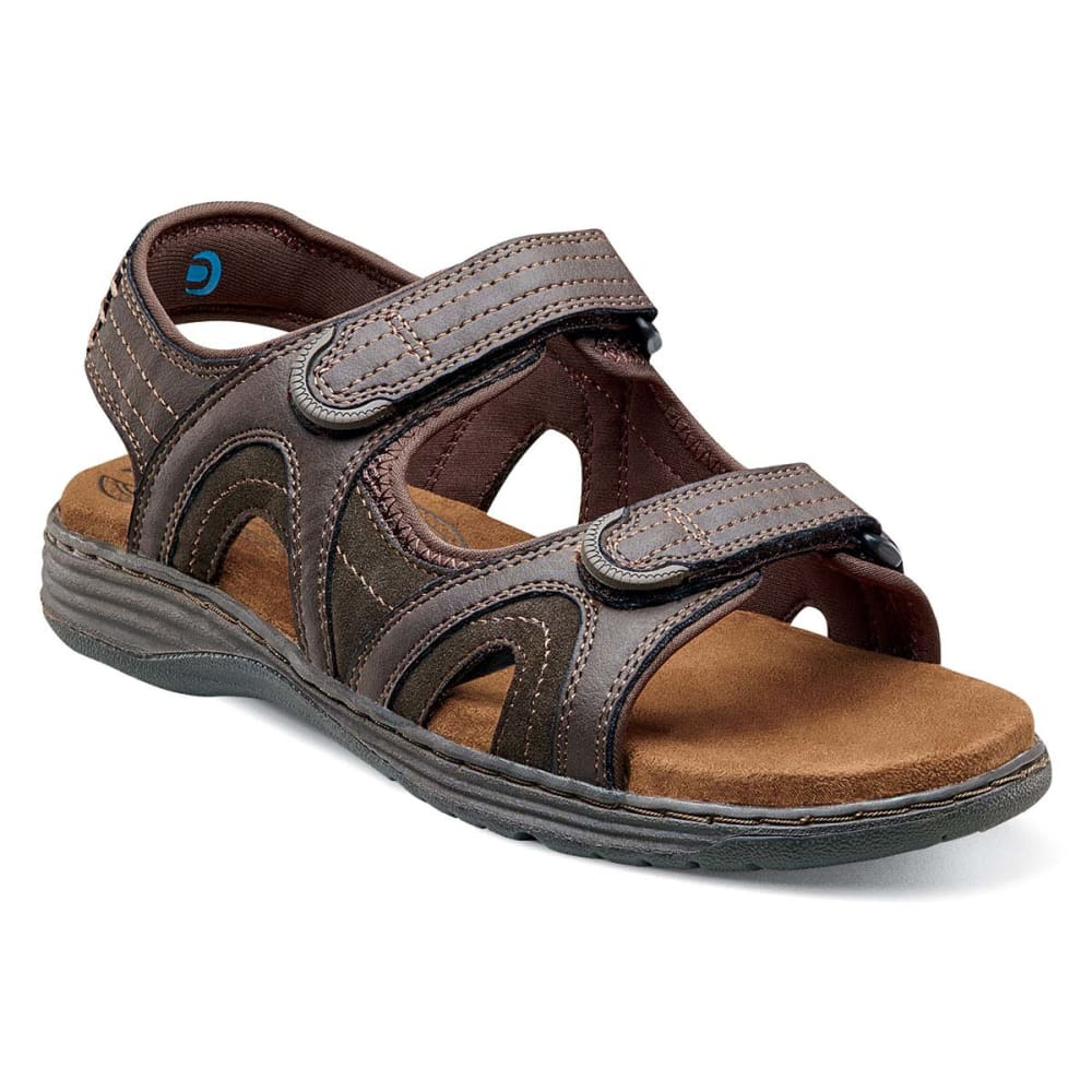 NUNN BUSH Men's Randall Open-Toe Sandals, Wide Width - BROWN