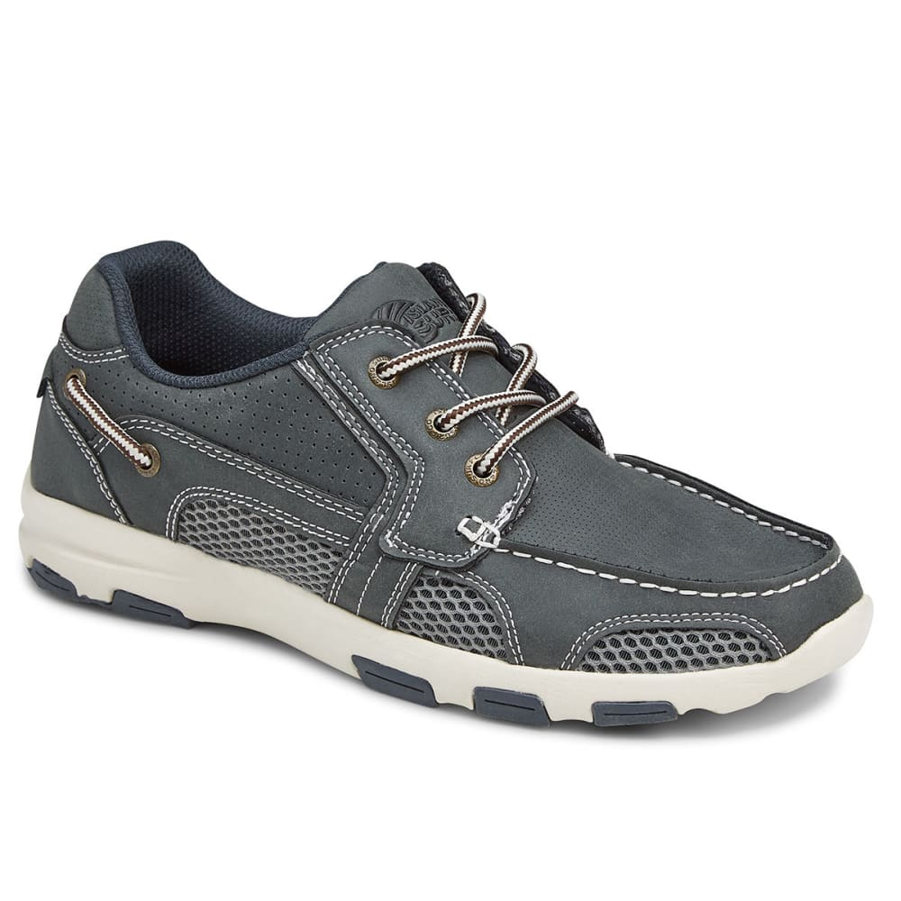 ISLAND SURF COMPANY Men's Atlantic Boat Shoes - NAVY