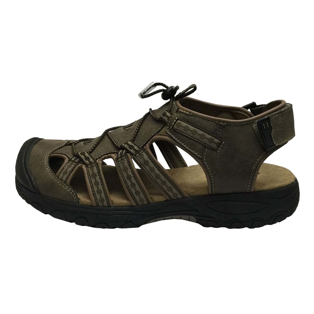 KHOMBU Men's Bumper Toe Sandals - DARK BROWN