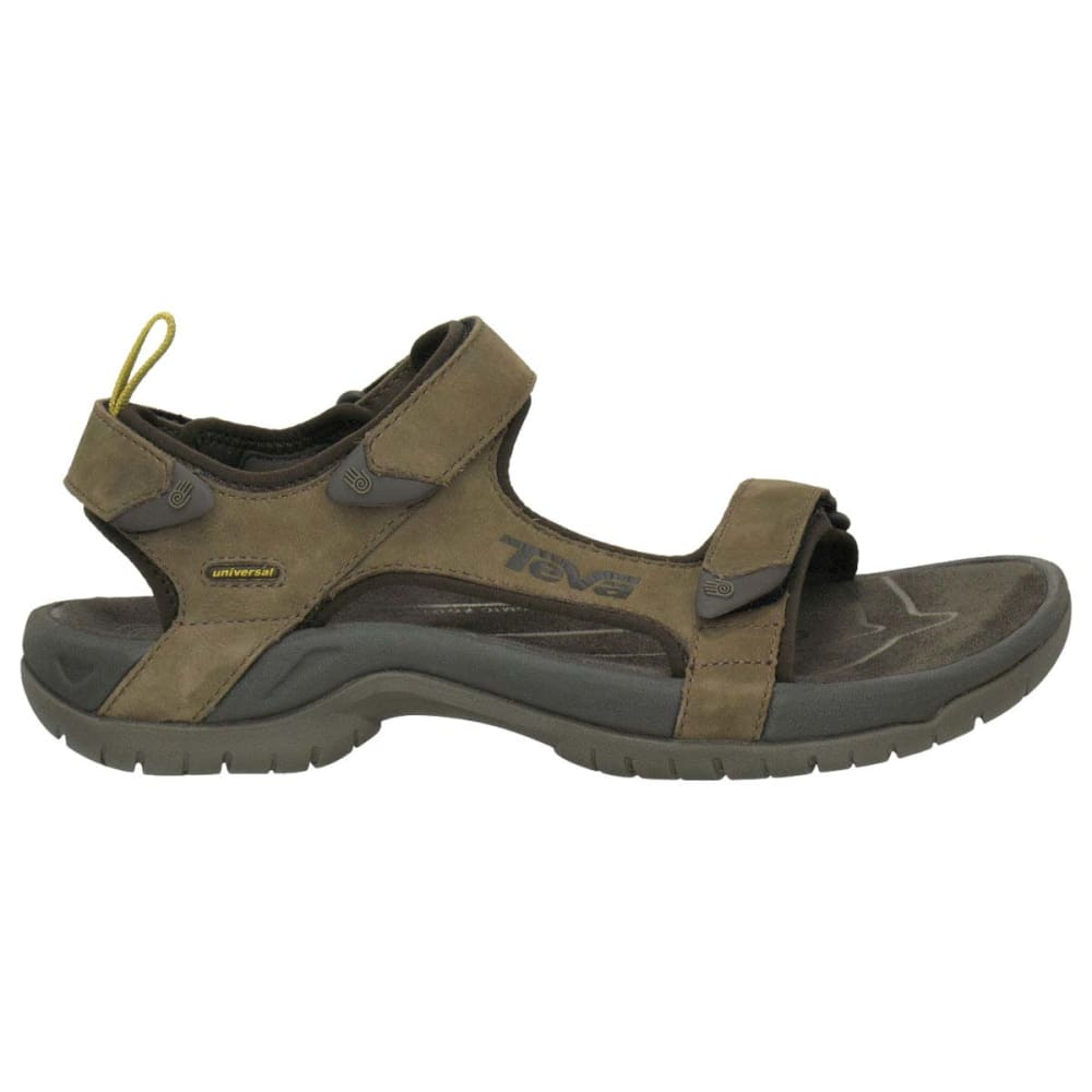 TEVA Men's Tanza Leather Sandals - BROWN