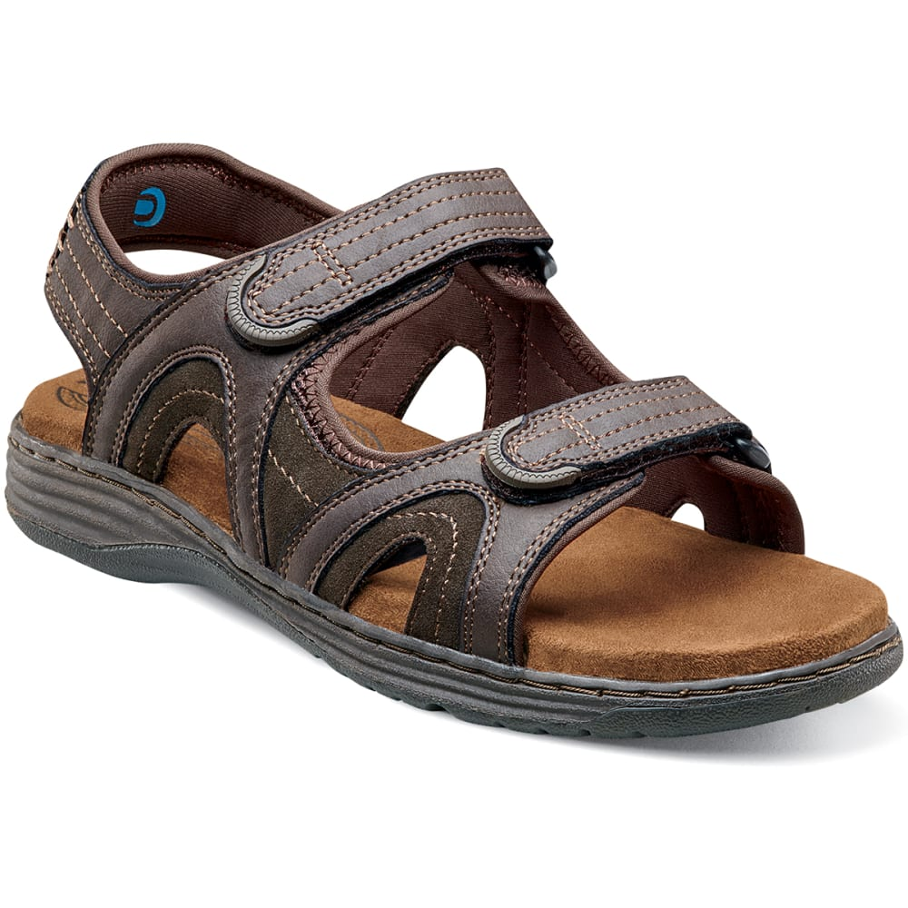 NUNN BUSH Men's Randall Crazy Horse Sandals - BROWN