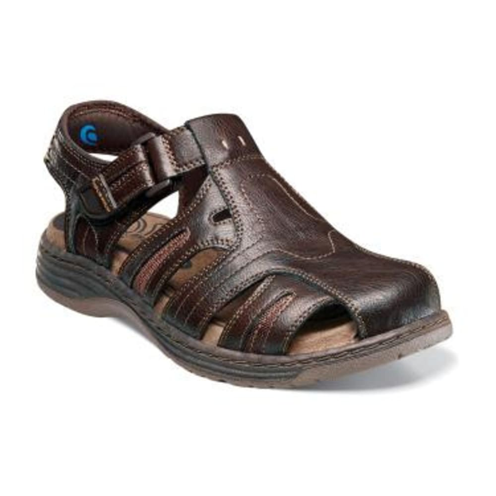 NUNN BUSH Men's Ripley Closed Toe Sandals - BROWN