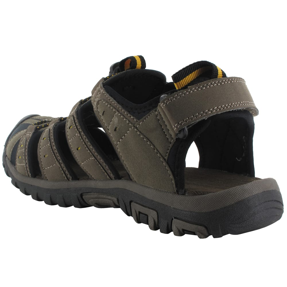 HI-TEC Men's Shore Closed Toe Sandals - BROWN