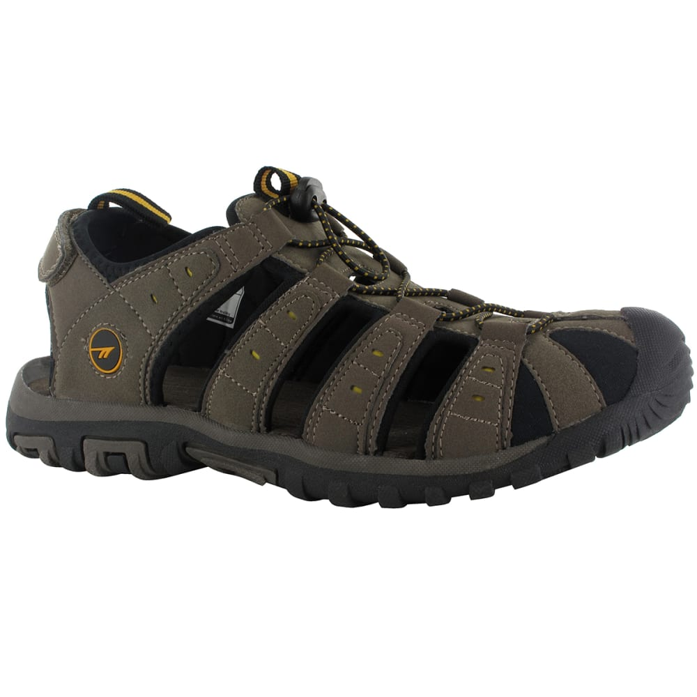 HI-TEC Men's Shore Closed Toe Sandals - BROWN