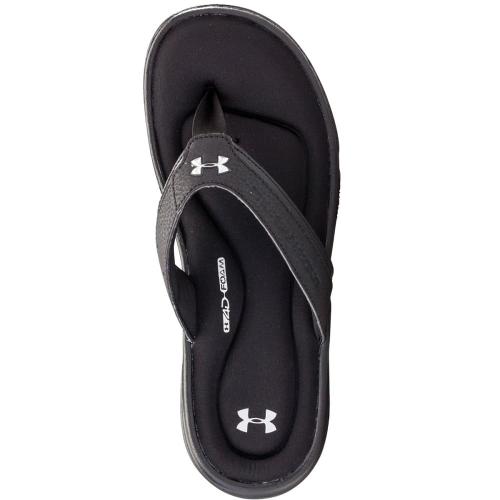UNDER ARMOUR Men's Ignite Sandals - BLACK/SILVER