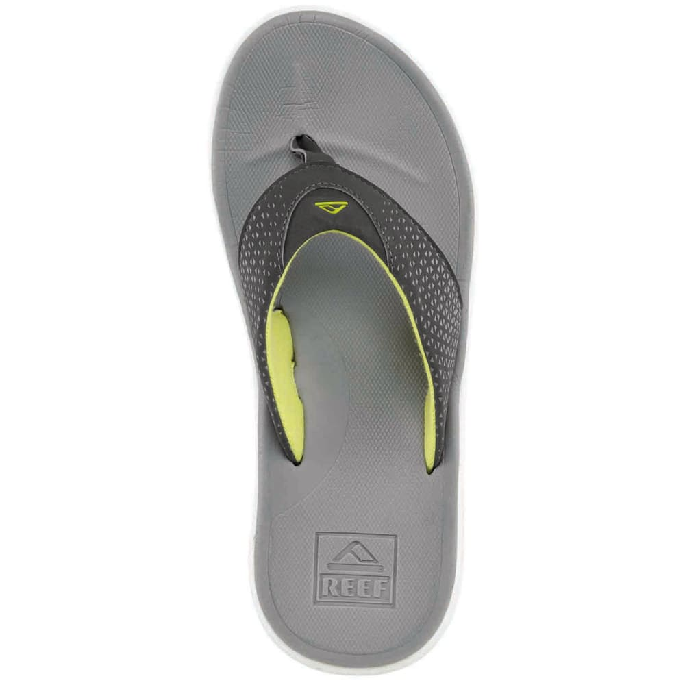 REEF Men's Rover Flip-Flops - GREY/YELLOW