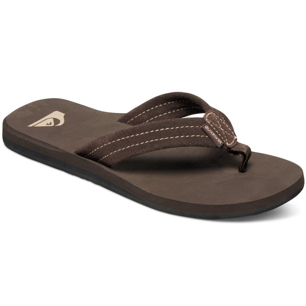 QUIKSILVER Men's Carver Suede Sandals - BRN /AQYL100030 CTKO