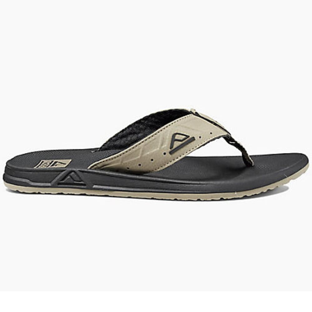 REEF Men's Phantoms Flip-Flops, Black/Tan - BLK/TN RF2046 BTA