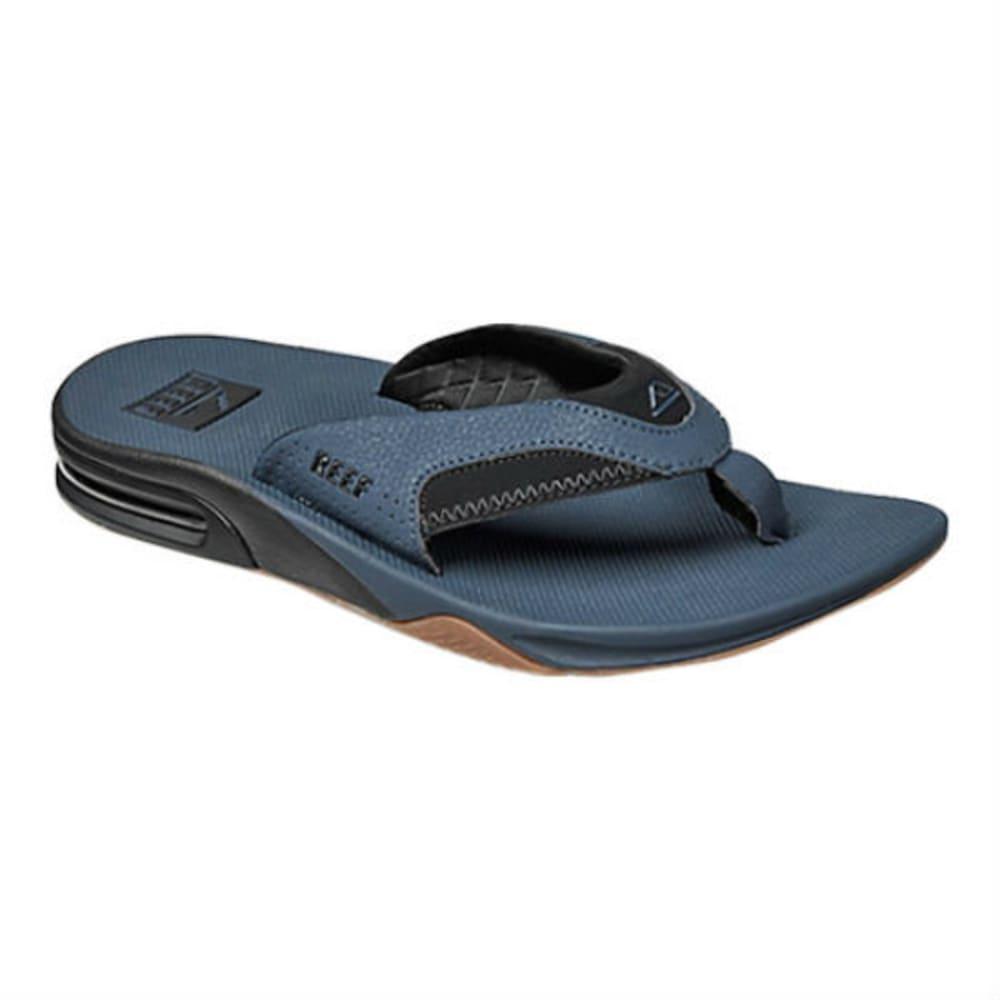 REEF Men's Fanning Flip Flops - NAVY
