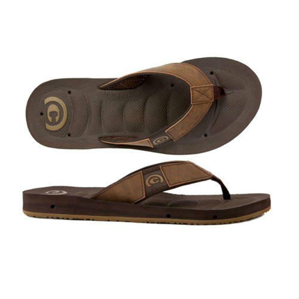 COBIAN Men's Draino Flip Flops - CHOCOLATE