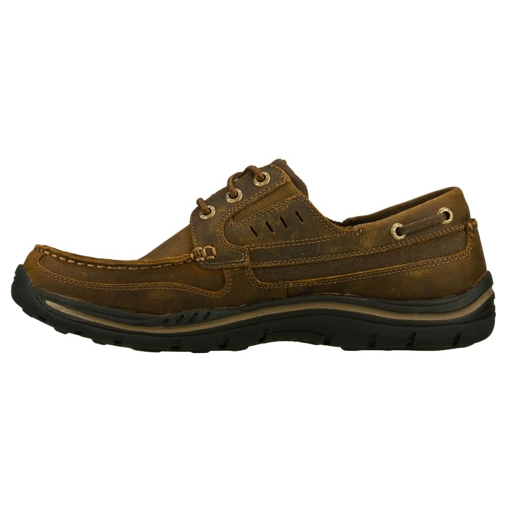 SKECHERS Men's Gembel Boat Shoes - DARK BROWN