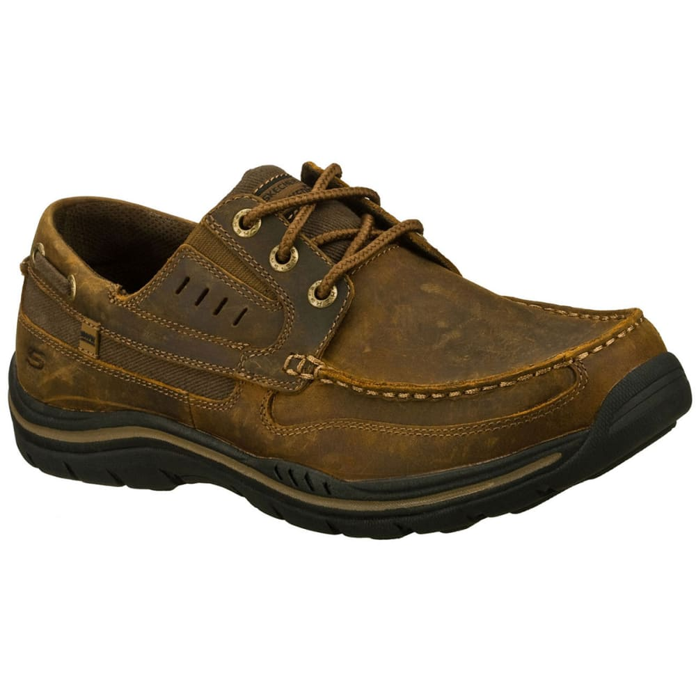SKECHERS Men's Gembel Boat Shoes - DARK BROWN
