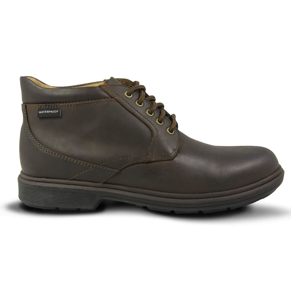 NUNN BUSH Men's Webb Lake Plain Toe Waterproof Casual Boots - CHESTNUT DISTRESSED
