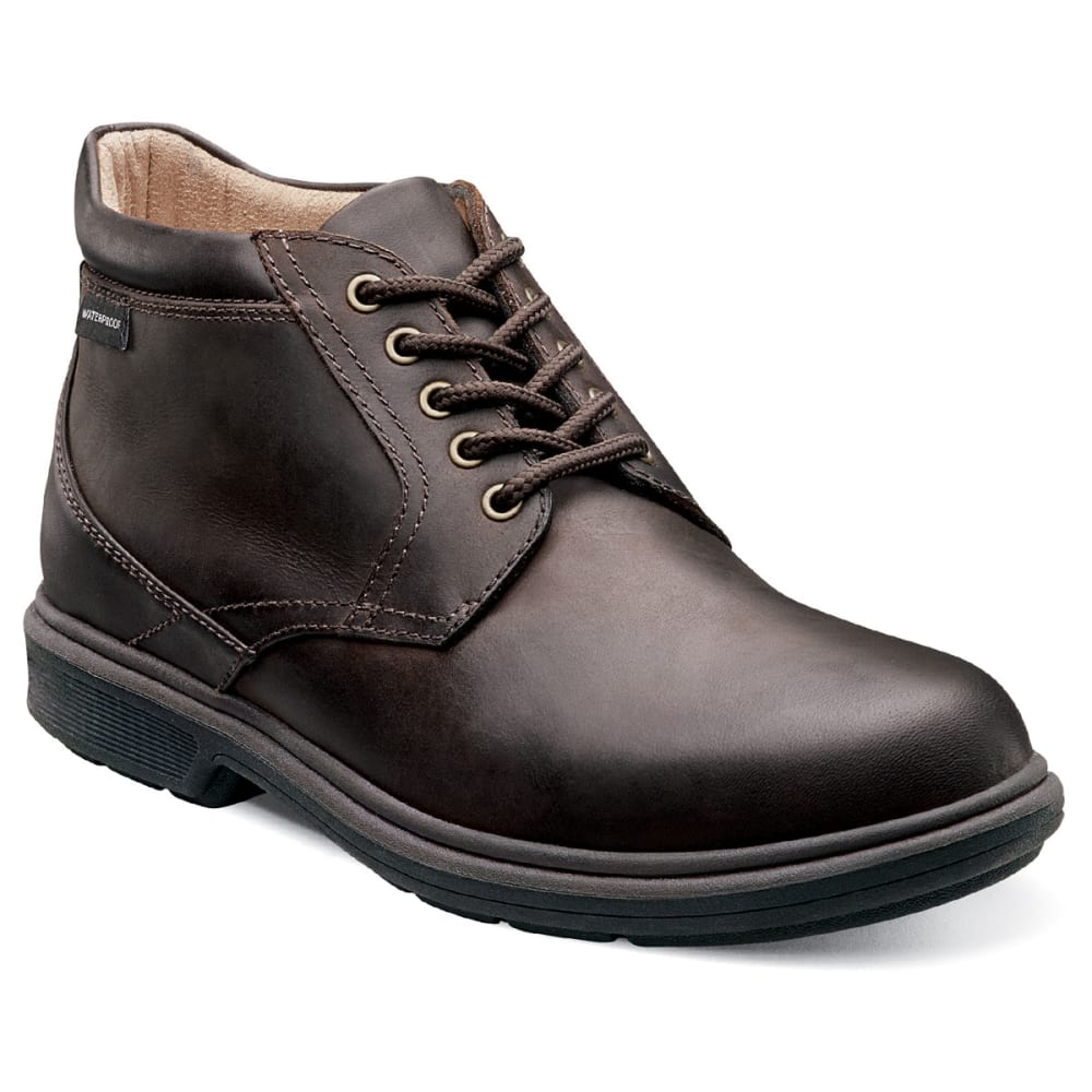 NUNN BUSH Men's Webb Lake Plain Toe Waterproof Casual Boots - CHESTNUT DISTRESSED