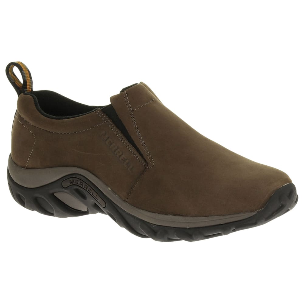 MERRELL Men's Jungle Moc Nubuck Shoes, Brown - BROWN