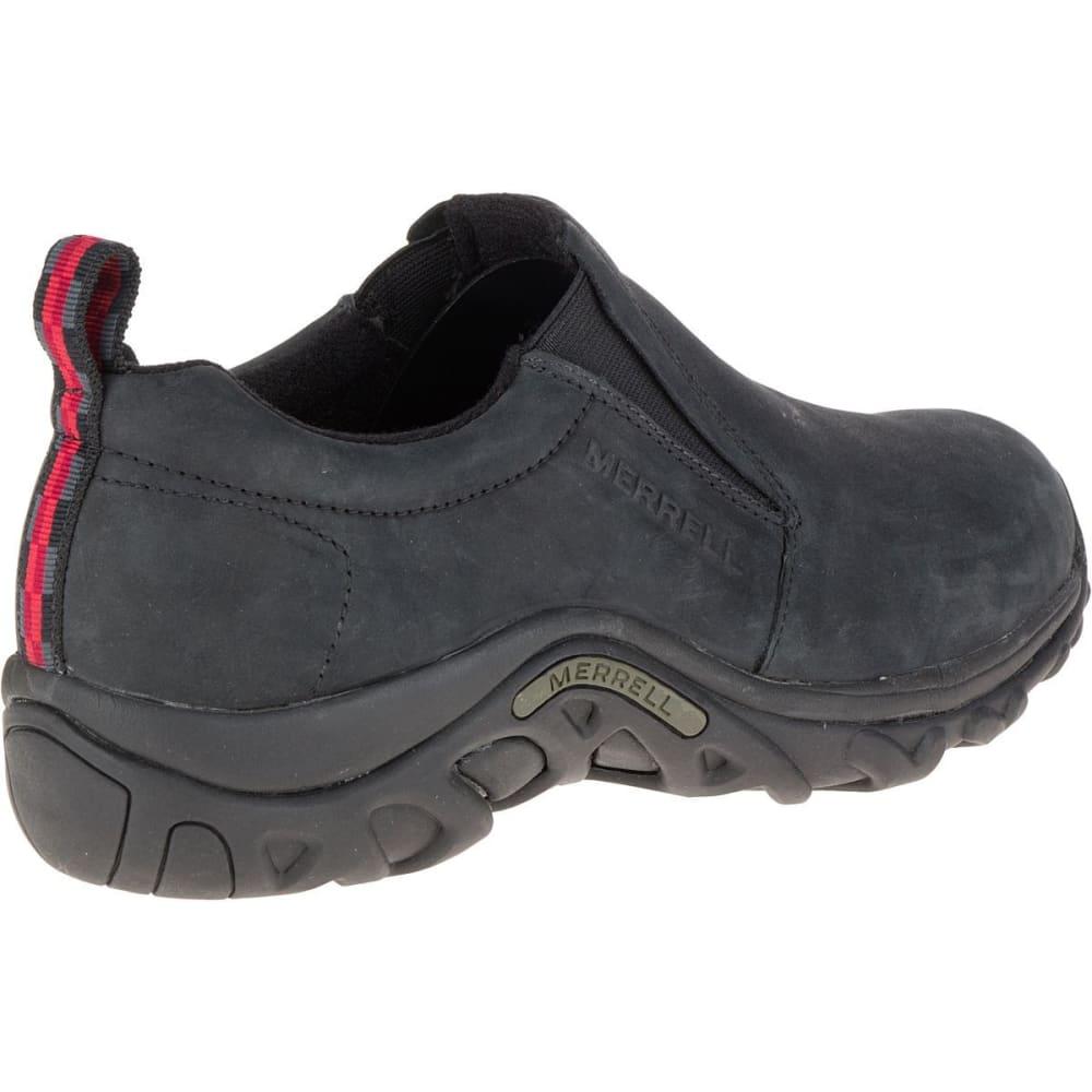 MERRELL Men's Jungle Moc Nubuck Shoes, Black - BLACK