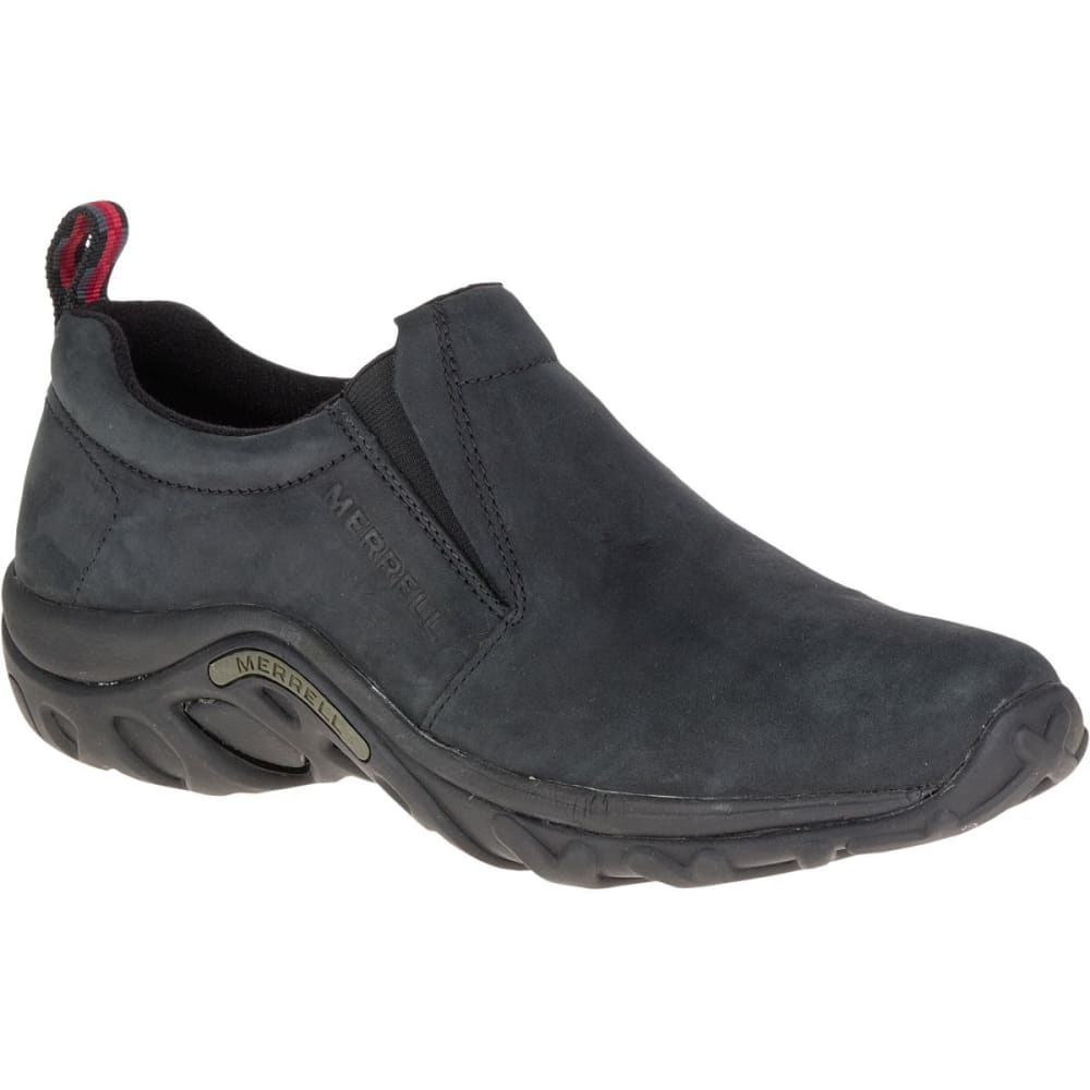 MERRELL Men's Jungle Moc Nubuck Shoes, Black 7