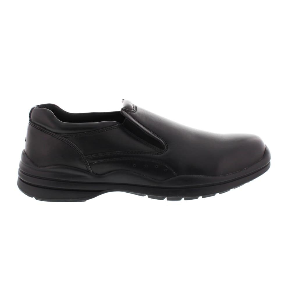 DEER STAGS Men's Goal Slip-On Shoes - BLACK