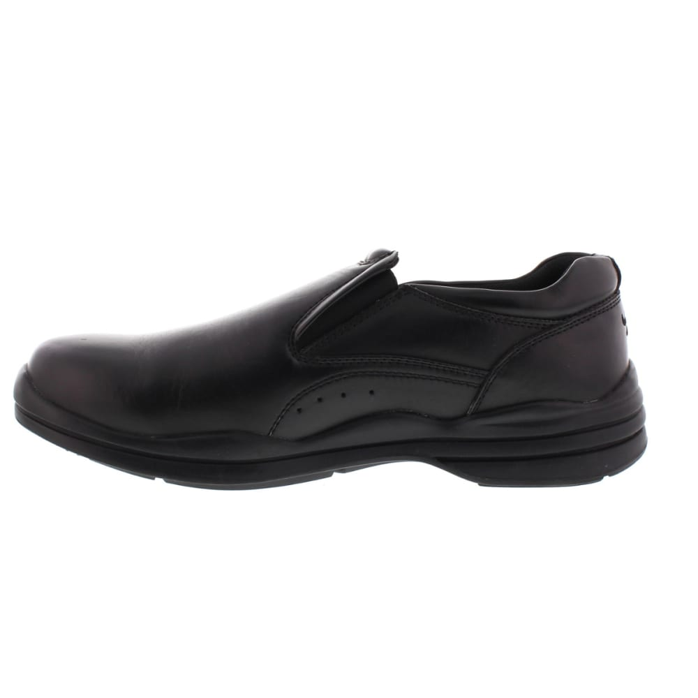 DEER STAGS Men's Goal Slip-On Shoes - BLACK