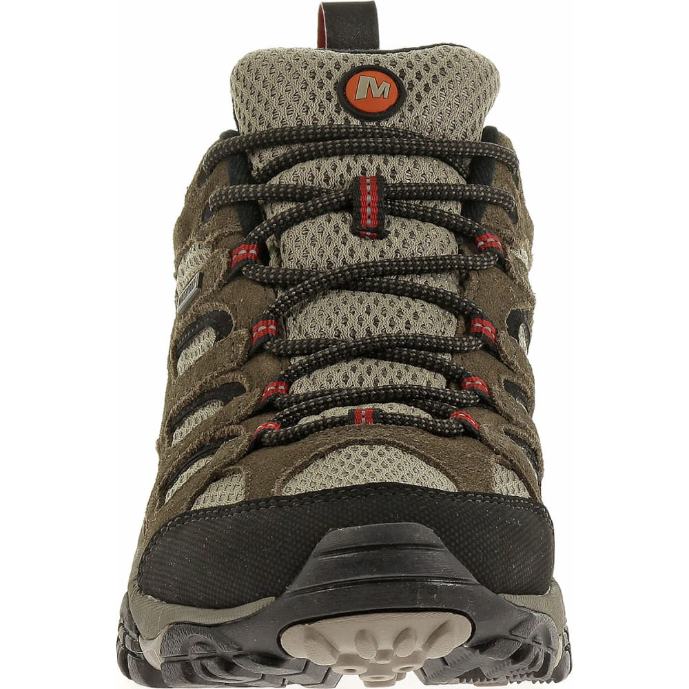 MERRELL Men's Moab WP Hiking Shoes, Bark Brown, Wide - BROWN