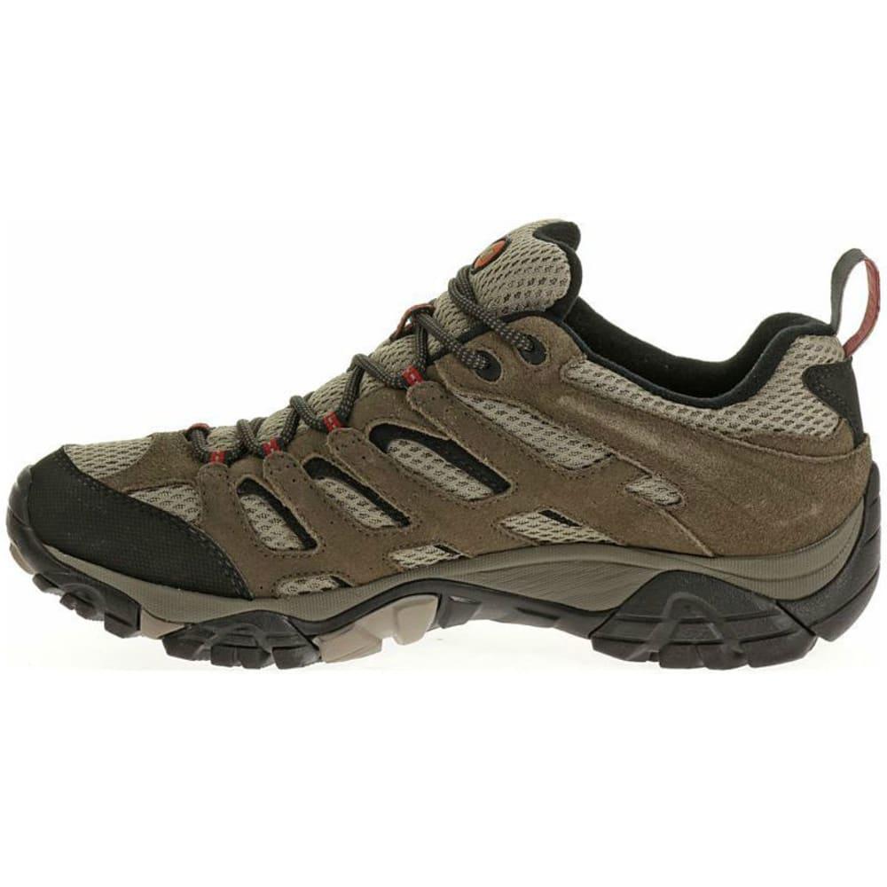 MERRELL Men's Moab WP Hiking Shoes, Bark Brown - BARK BROWN