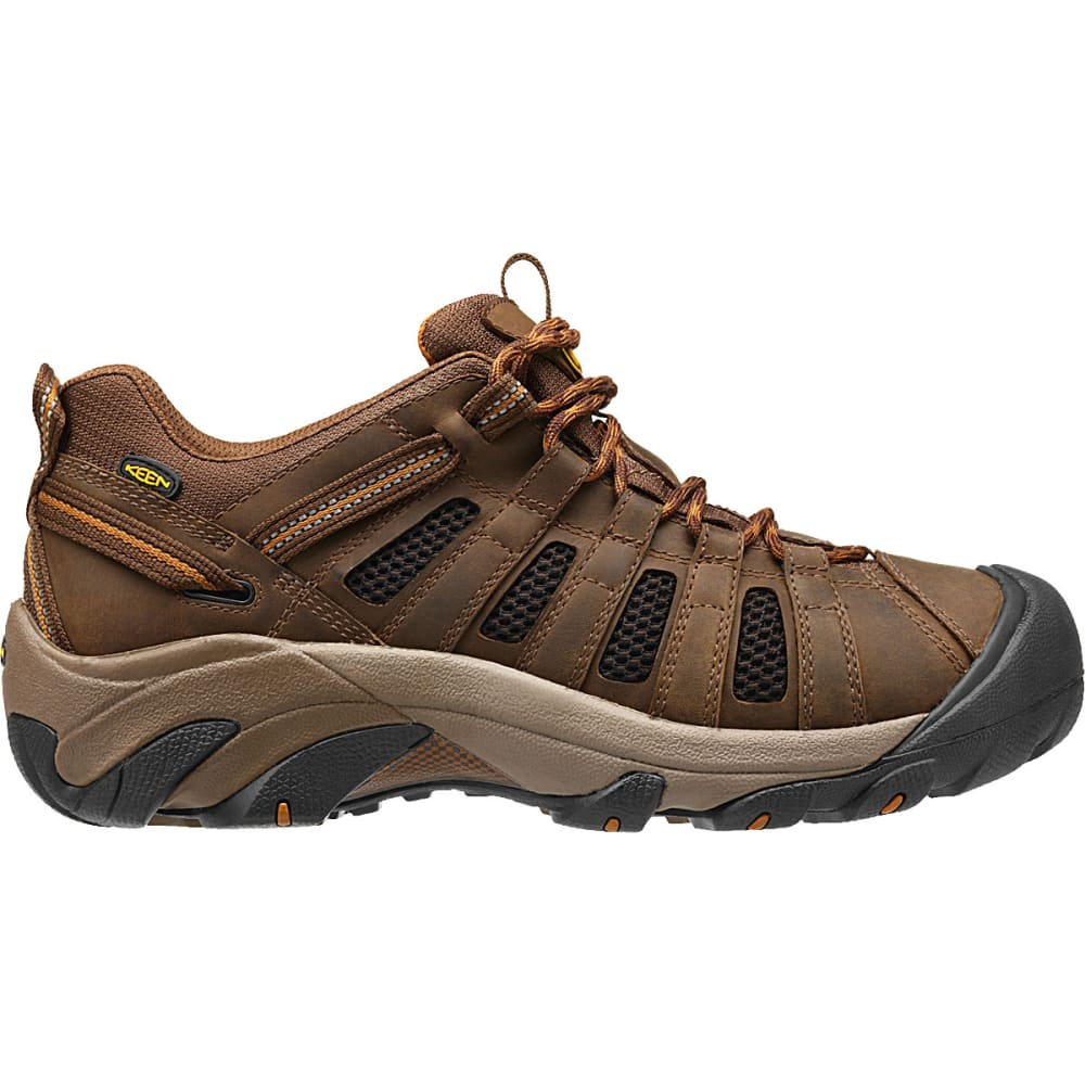 KEEN Men's Voyager Low Hiking Shoes, Dark Earth/Cathay Spice - DARK EARTH