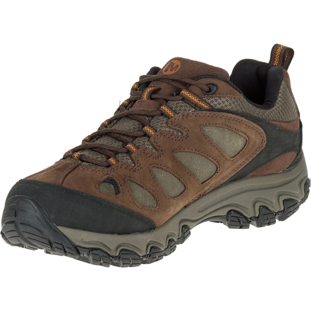 MERRELL Men's Pulsate Hiking Shoes, Black/Bracken, Wide - BLACK/BRACKEN