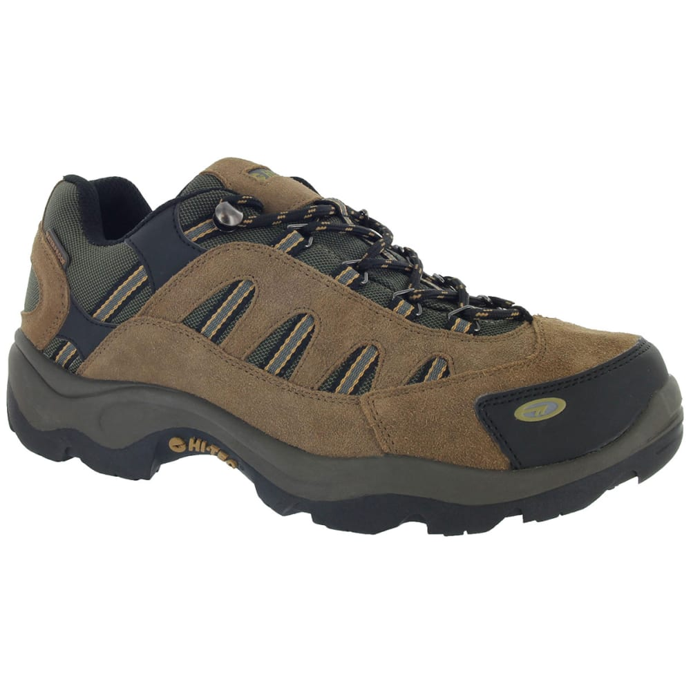 HI-TEC Men's Bandera Low WP Hiking Shoes, Bone/Brown/Mustard,Wide