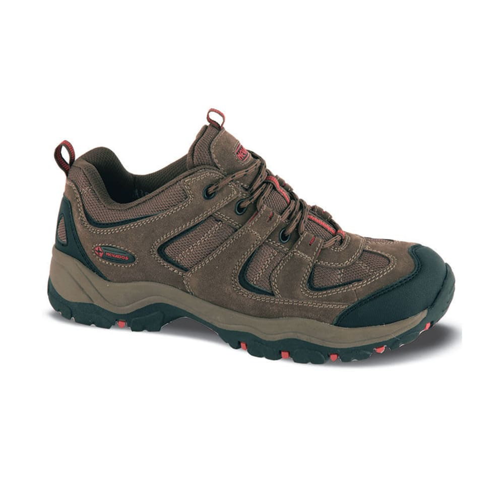 NEVADOS Men's Boomerang Low Hiking Shoes, Wide Width - BROWN