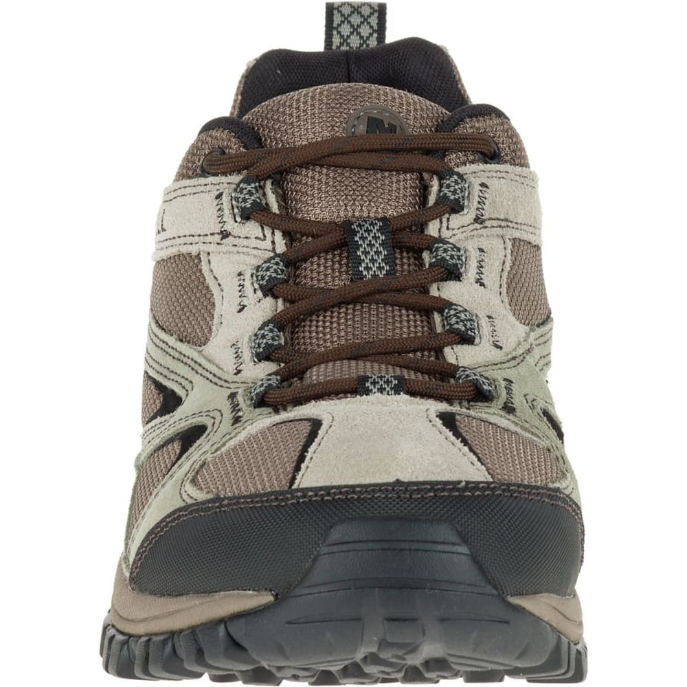 MERRELL Men's Phoenix Bluff Hiking Shoes, Wide - BROWN/CHEVRON