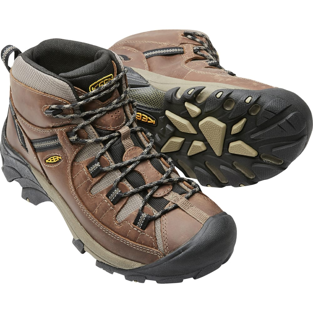 KEEN Men's Targhee Mid Waterproof Hiking Boots - SHITAKE