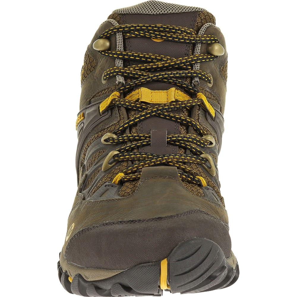 MERRELL Men's All Out Blaze Mid WP Hiking Boots, Black Slate - BLACK SLATE/YELLOW