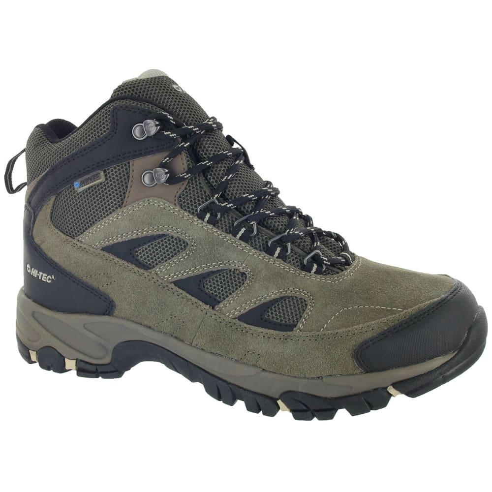 HI-TEC Men's Logan WP Hiking Boots, Smokey Brown/Olive/Snow,Wide 8