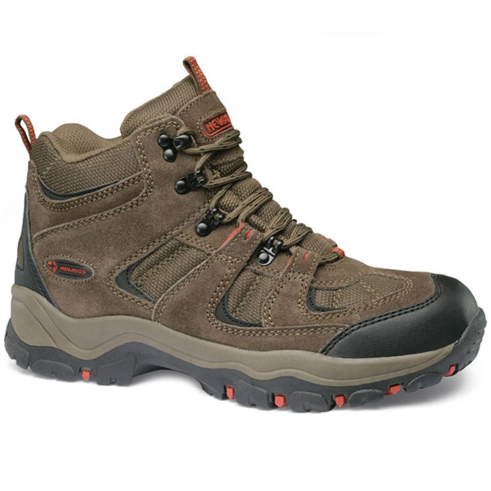 NEVADOS Men's Boomerang Mid Hiking Boots, Medium Width - BROWN