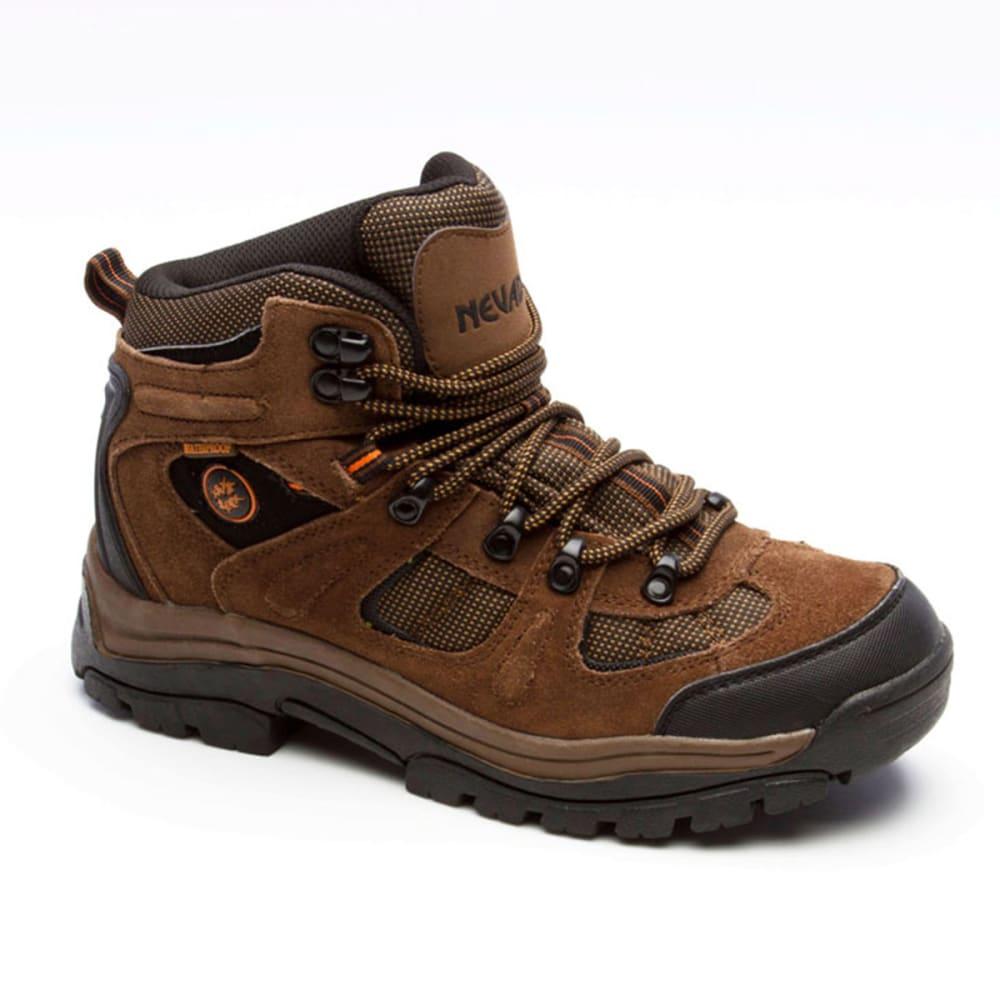NEVADOS Men's Klondike Mid Waterproof Hiking Boots, Wide Width - BROWN