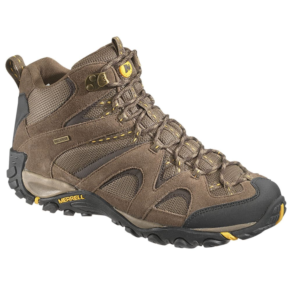 MERRELL Men's Energis Mid Hiking Boots - STONE/OLD GOLD