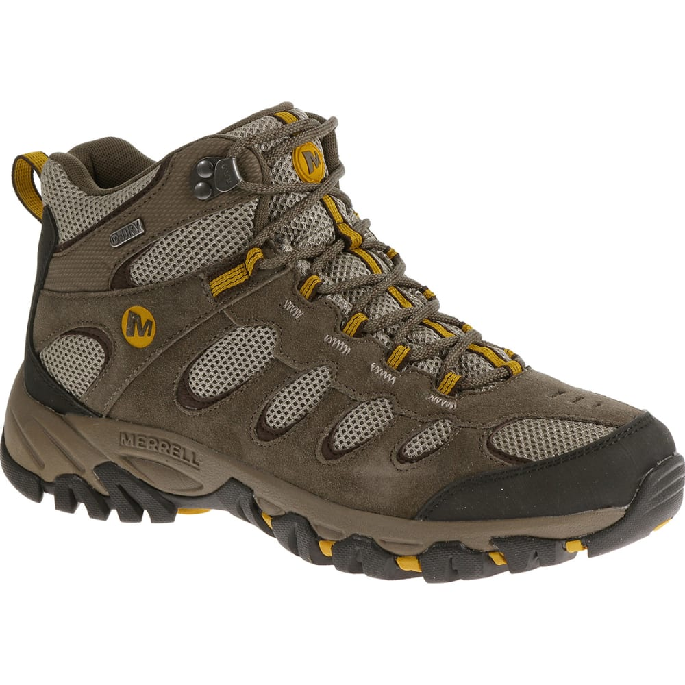 MERRELL Men's Ridgepass Waterproof Hiking Boots, Mid - BOULDER