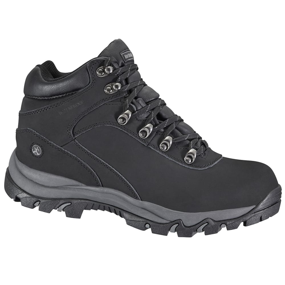 NORTHSIDE Men's Apex Mid Waterproof Hiking Boots, Wide - BLACK/RISK RED