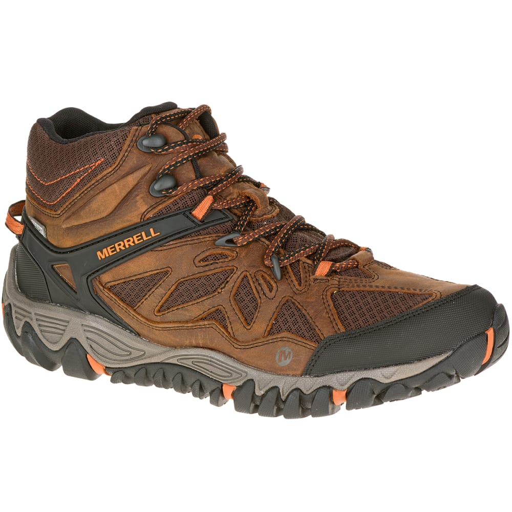 Merrell Men's All Out Blaze Ventilator Mid Hiking Boots - Brown, 8