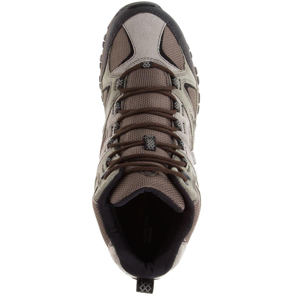 MERRELL Men's Phoenix Bluff Mid Waterproof Hiking Shoes, Putty - BROWN/CHEVRON