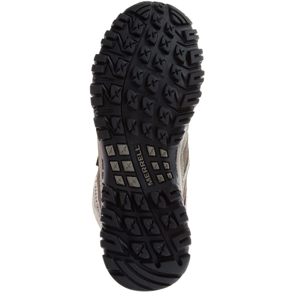 MERRELL Men's Phoenix Bluff Mid Waterproof Hiking Shoes, Wide - BROWN/CHEVRON