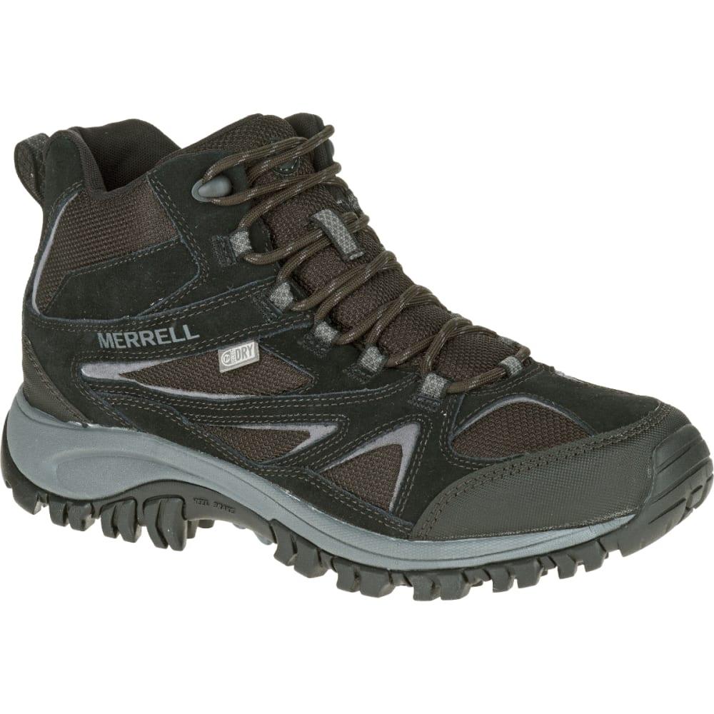 MERRELL Men's Phoenix Bluff Mid Waterproof Hiking Boots, Black - BLACK/ANTIFREEZE