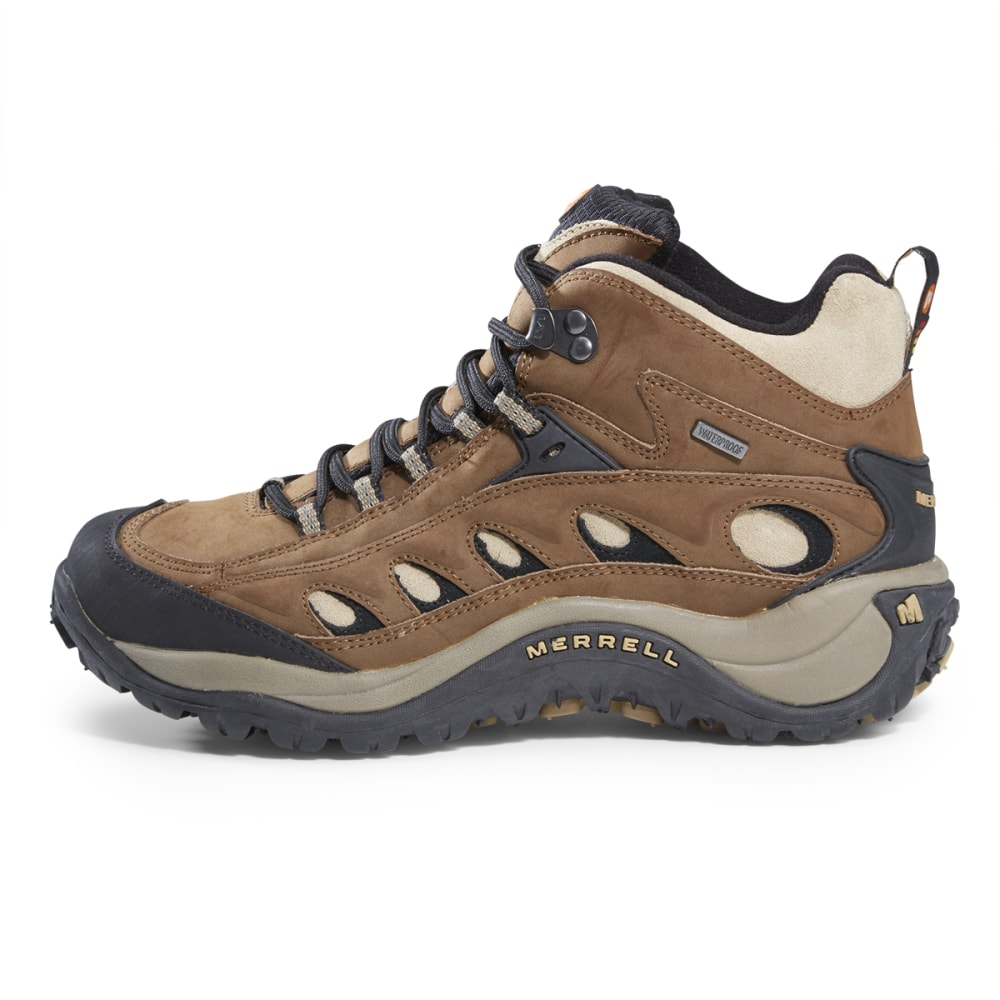 MERRELL Men's Radius II Mid Waterproof Hiking Boots - COCOA