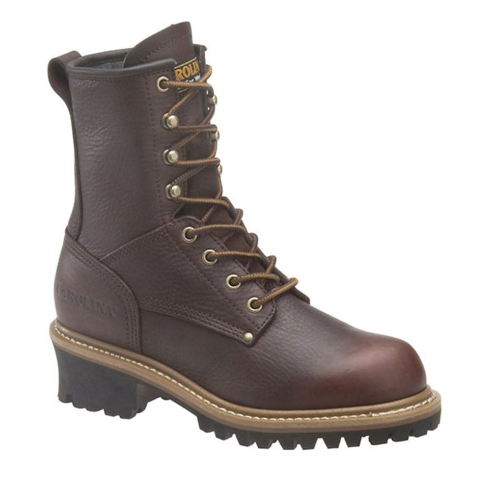 CAROLINA Women's 8 in. Steel Toe Logger Boots - BROWN