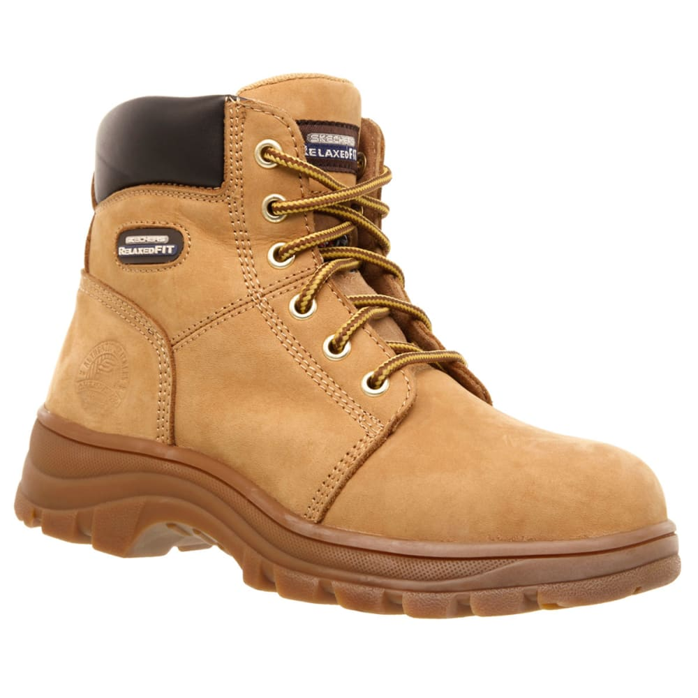 SKECHERS Women's Workshire Peril Steel Toe Work Boots - WTN -WHEAT