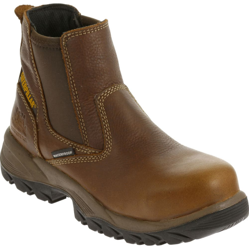CATERPILLAR Women's Veneer Waterproof Composite Toe Work Boot - Brown, 6.5