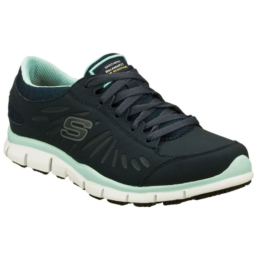 SKECHERS Women's Work: Relaxed Fit- Eldred SR Shoes - BLK/NAVY